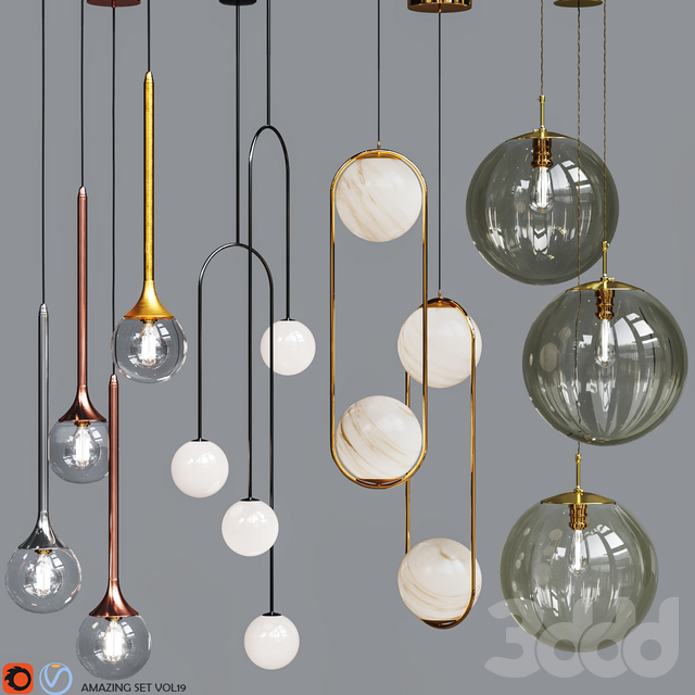 Four Pendant Lights amazing set vol.19