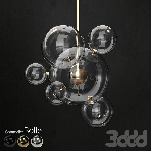 Chandelier Giopato & Coombes Bolle 6 lights