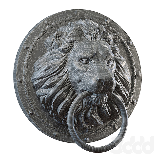 Lion Head Medalion