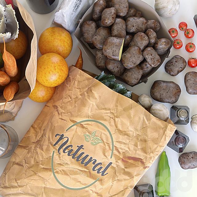 Пакеты с продуктами