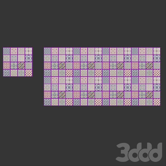EQUIPE COUNTRY (Экипе Кантри) Patchwork (16 плиток с разным паттерном)