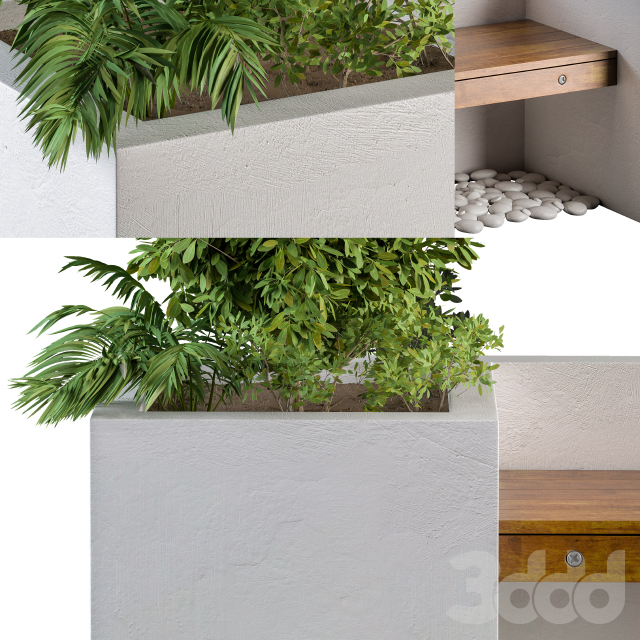 Outdoor Bench with FlowerBox