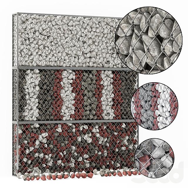 Gabion medium stone color / Габион средний с цветным камнем