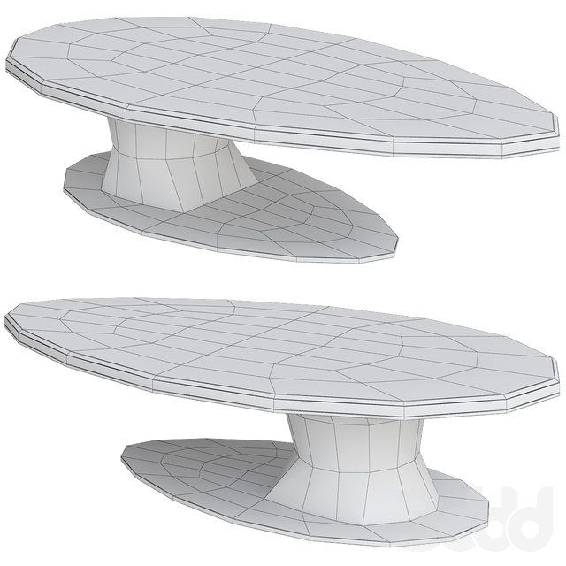 Ipe Cavalli (Visionnaire) 2019 SOWILO Elliptical low table