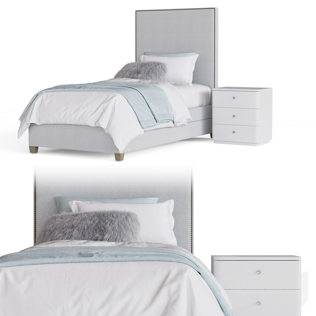 SYDNEY UPHOLSTERED BED WITH TRUNDLE