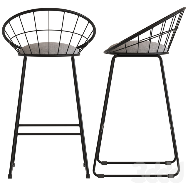 Dwell Home Black Nord Barstool