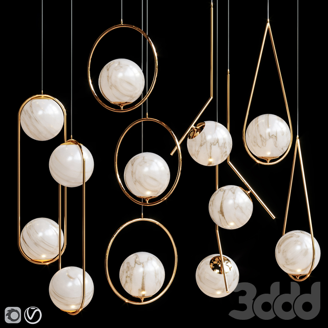 Four Pendant Lights amazing set vol.20