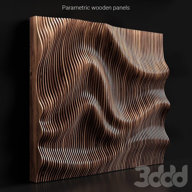 Parametric wooden panels