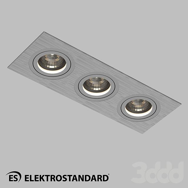 ОМ Алюминиевый точечный светильник Elektrostandard 1011/3 MR16 CH хром