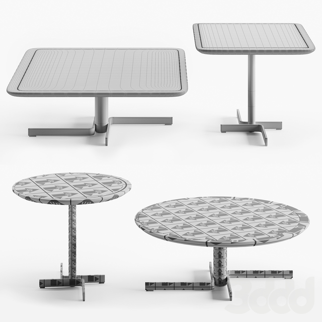 Cierre Imbottiti Laurel and Hardy table set