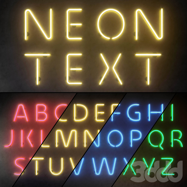 Light modules. Set 10. Neon Alphabet