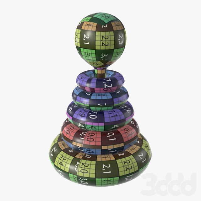Pyramid colored toy