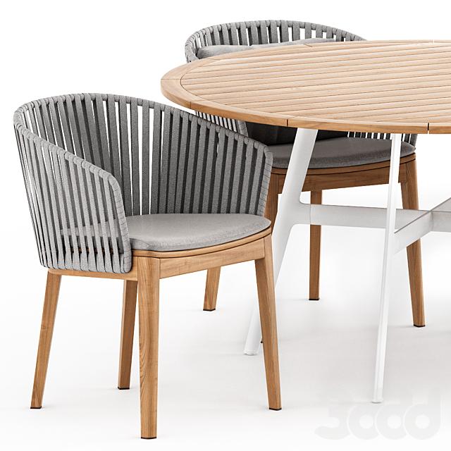 MOOD Chair Tribu, SEAX table Dedon