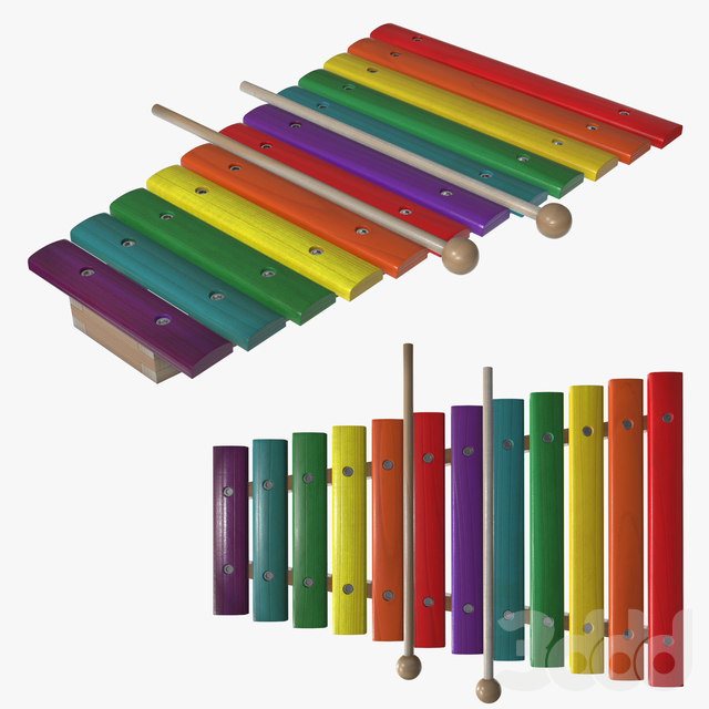 Xylophone toy colored
