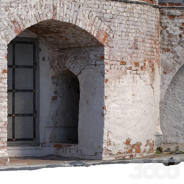 Стена с аркой  2