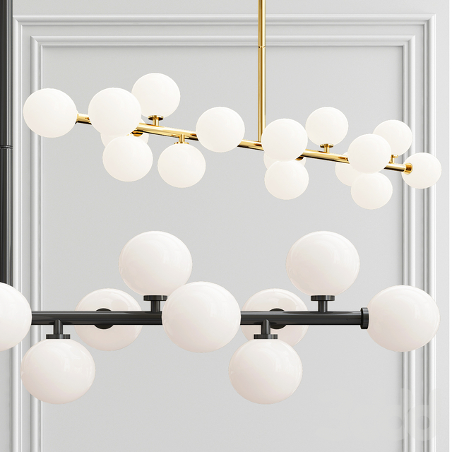 Bubble Stik Cold Chandelier