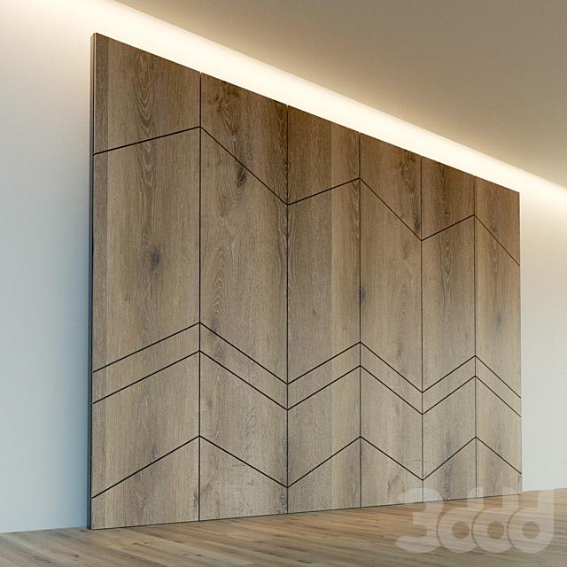 Стеновая панель из дерева. Декоративная стена. 93