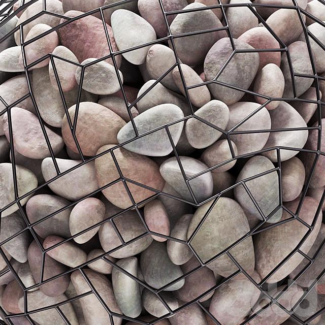 Габион  шар c галькой / Gabion sphere pebble