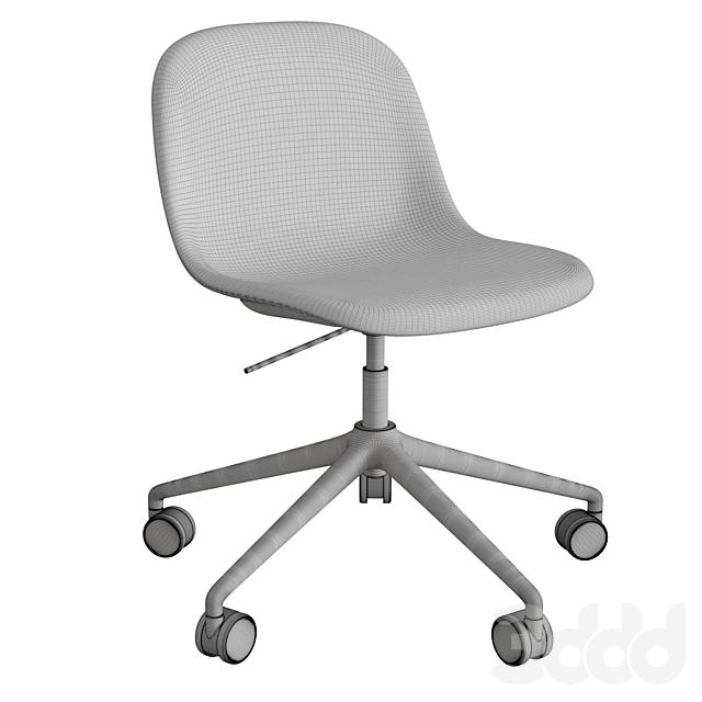 Fiber Side Chair Swivel Base W. Castors & Gas Lift