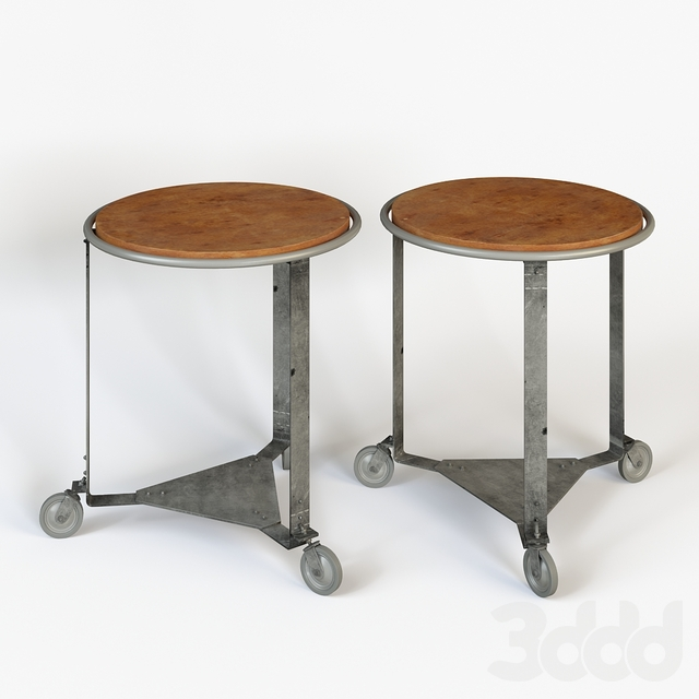 Bakers Rack Spin Lamp Table