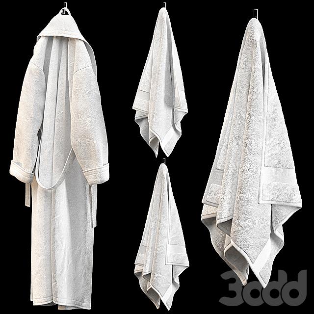 BATHROBE TOWELS WHITE
