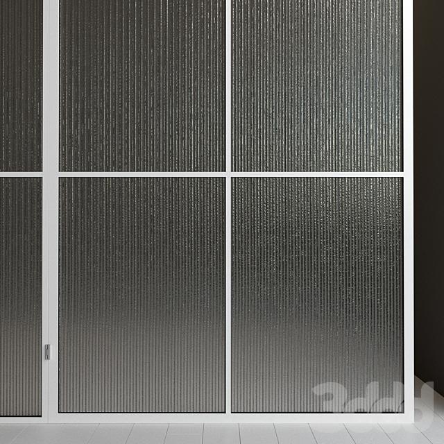 Стеклянная перегородка. Дверь. 43