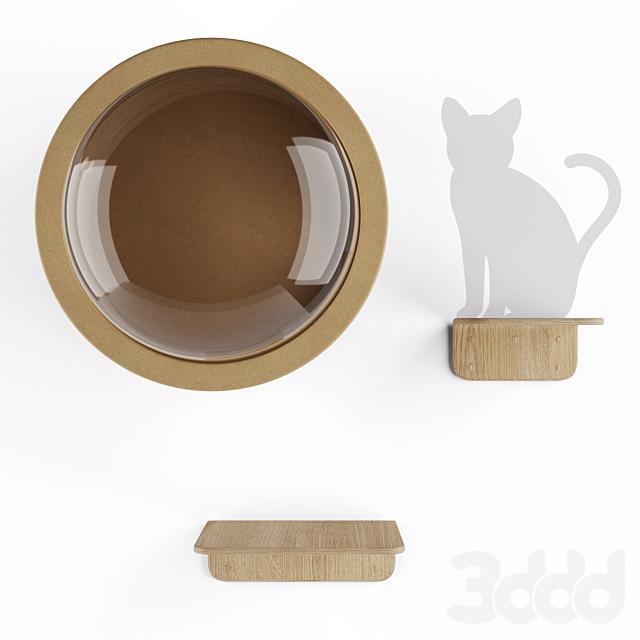 MYZOO - SPACESHIP GAMMA+LACK Домик для кота и полочки