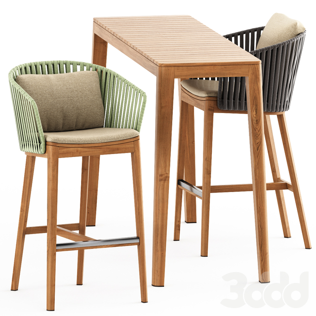 MOOD BAR Chair, MOOD High Table by Tribu