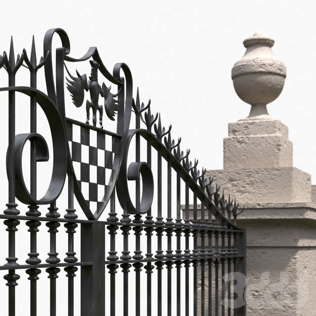 Classic gate and fence
