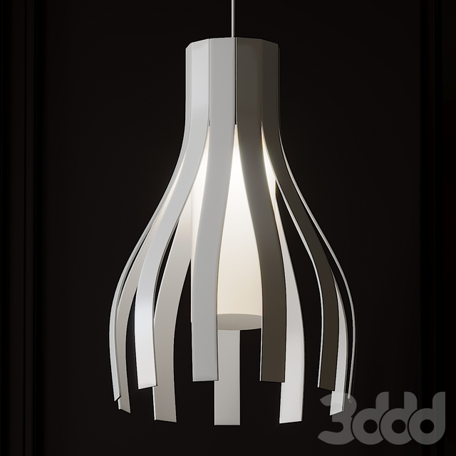 Ripado Curved Pendant by Lightology Collection