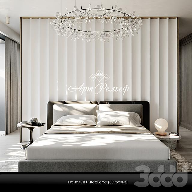 Гипсовая 3d панель Art-1049 от АртРельеф