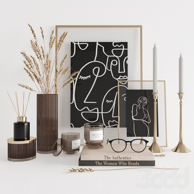 Dark decorative set