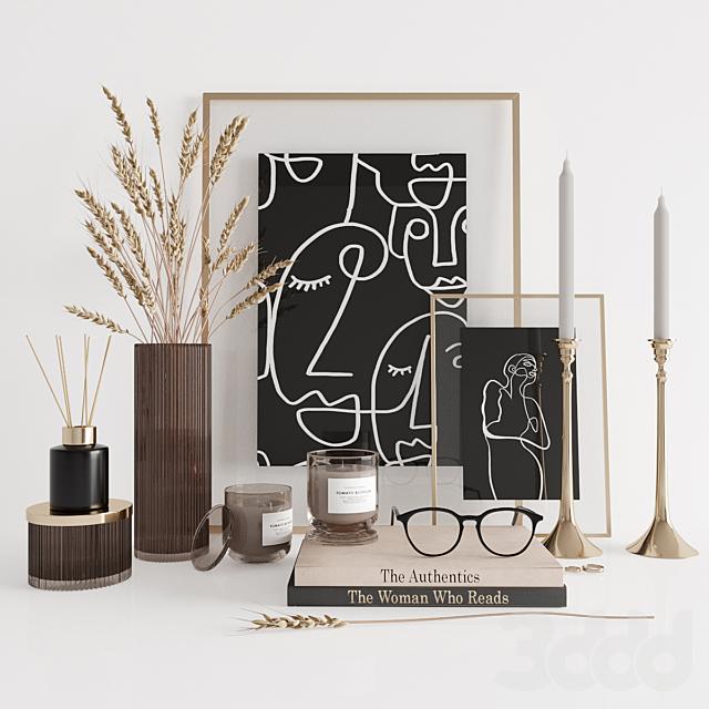 Dark decorative set