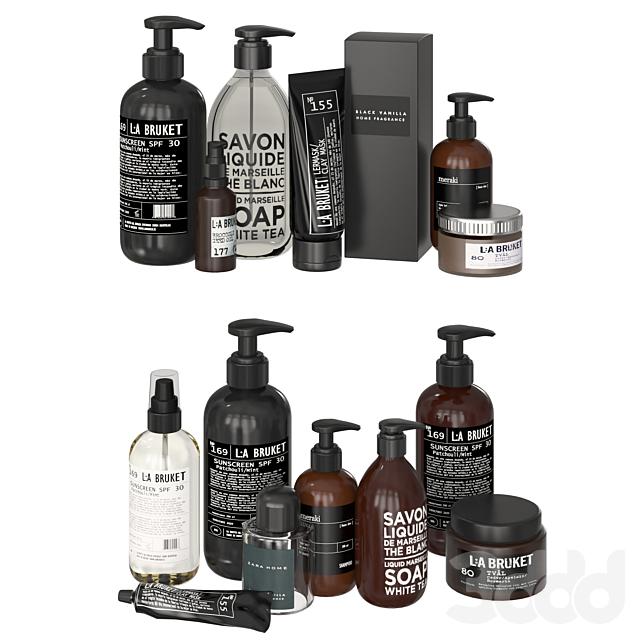 Bathroom Black and White Cosmetics