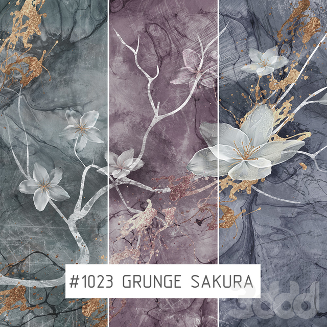 Creativille | Wallpapers | Grunge sakura 1023