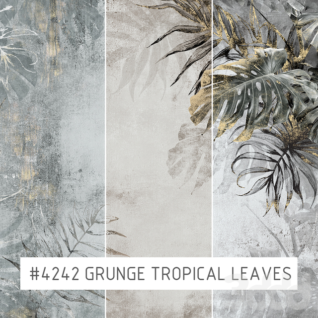 Creativille | Wallpapers | Grunge tropical leaves 4242