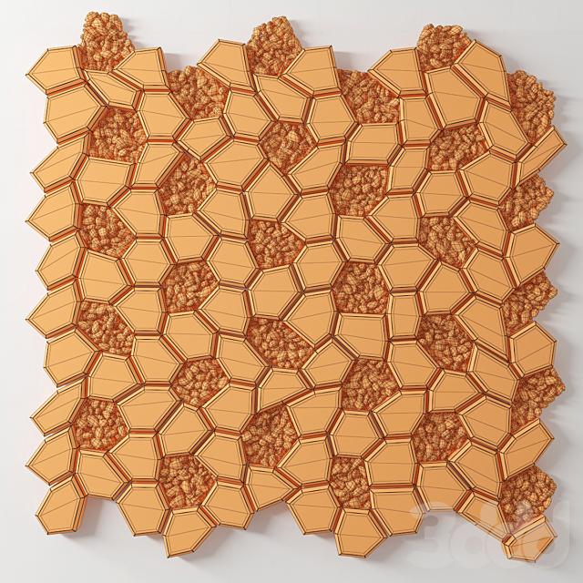 Брусчатка многоугольная с галькой