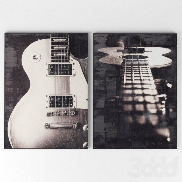 Encaustic Guitar Photography от Restoration Hardware