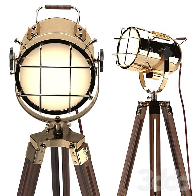 светильник на треноге