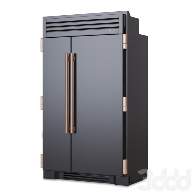 REFRIGERATOR TRUE 48 Black Mat