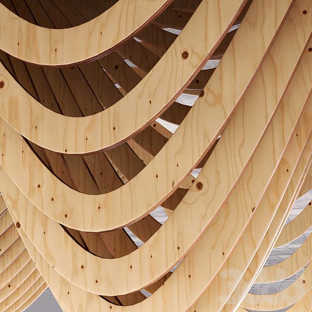 Параметрический деревянный потолок