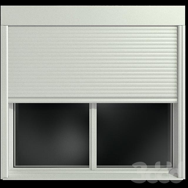 Распашные и глухие окна с роллставни