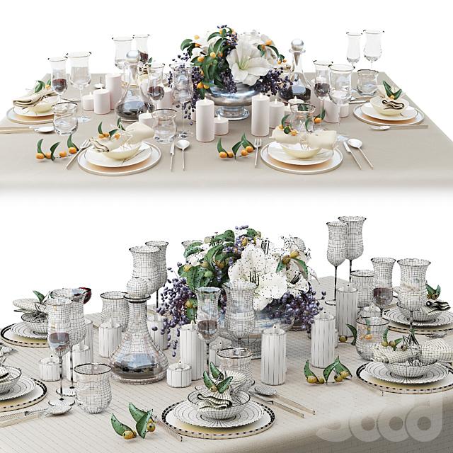 Сервировка стола Zara Home с букетом лилий