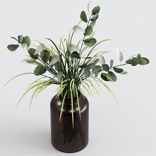 Букет из эвкалипта с травой