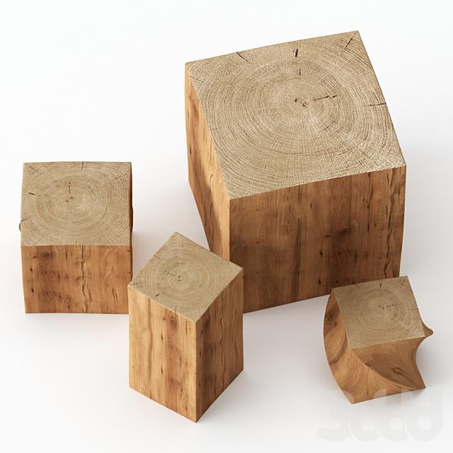 Набор журнальных столиков из пней.