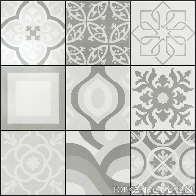 Yurtbay Seramik Topkapi Grey Set 1