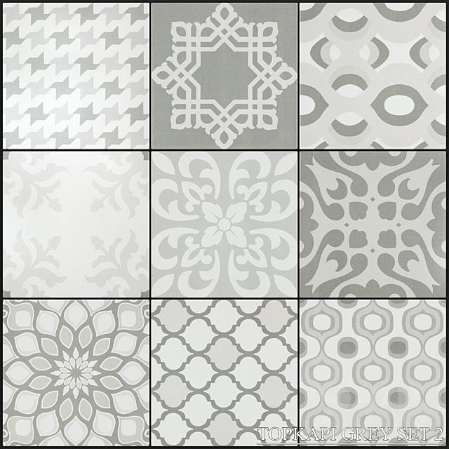 Yurtbay Seramik Topkapi Grey Set 2