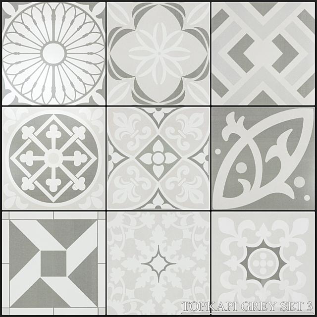 Yurtbay Seramik Topkapi Grey Set 3