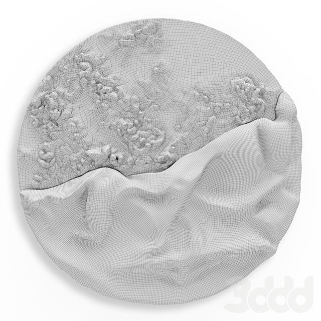 Paola Romano Luna Evolutiva wall art metal plaster