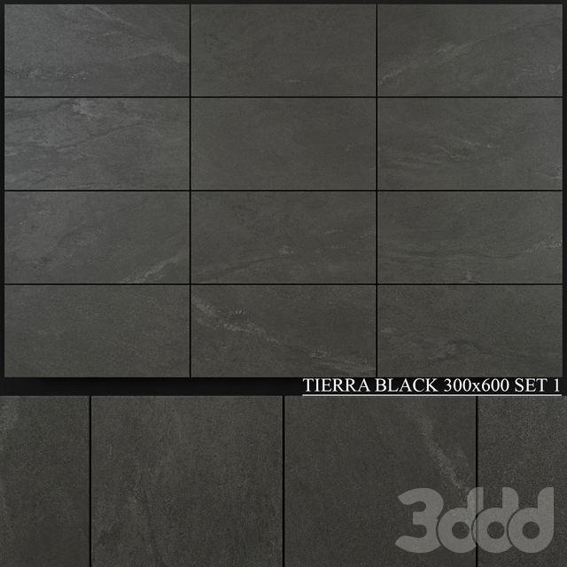 Yurtbay Seramik Tierra Black 300x600 Set 1